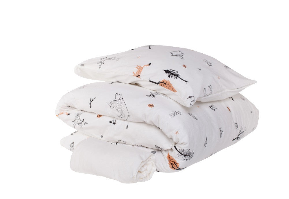 'Secret forest' baby bedding set| סט מצעים למיטת תינוק בצבע לבן-New Collection secret forest