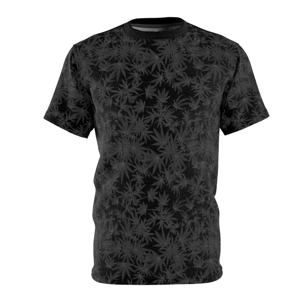 'Black Leaf' Cannabis Tee in Black