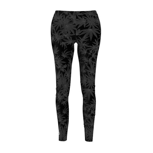 'Crush' Cannabis Leggings in Black