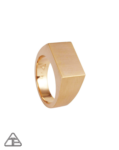 Signet Ring: Matte 18K Rose Gold
