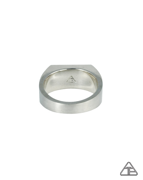 Signet Ring: Matte Sterling Silver
