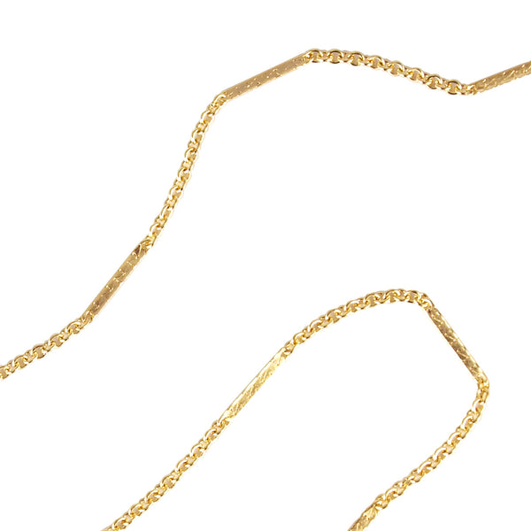 14k Yellow Gold Fill Cable Chain with Bar Accents 1.5mm