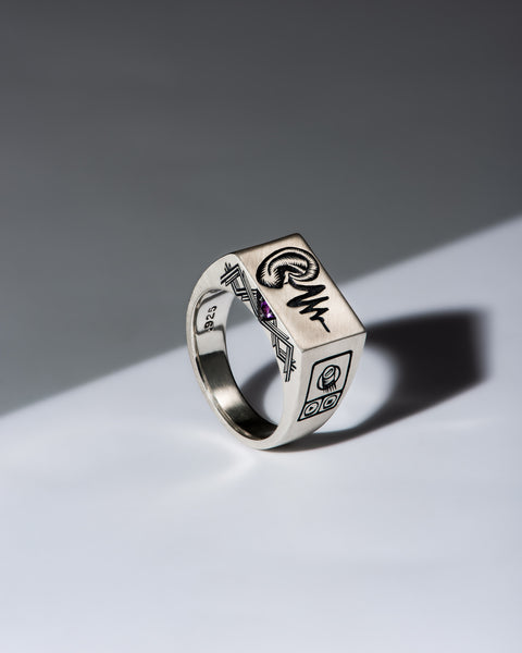 Hear - 5 Senses Signet Ring