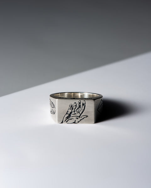 Touch - 5 Senses Signet Ring