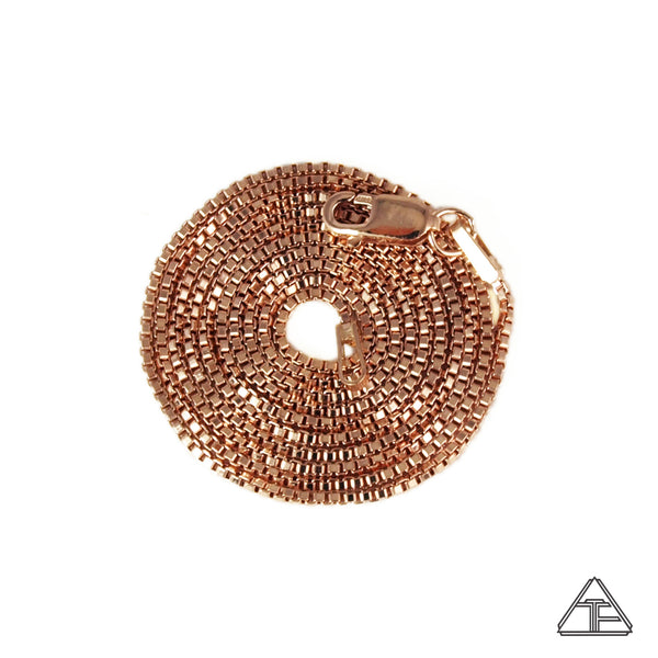 14k Rose Gold Box Chain 1mm