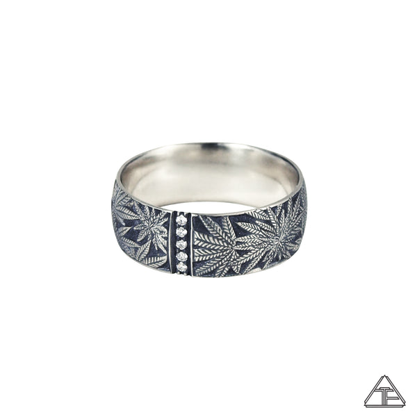 Married to the Game: Cannabis Hand Engraved Band