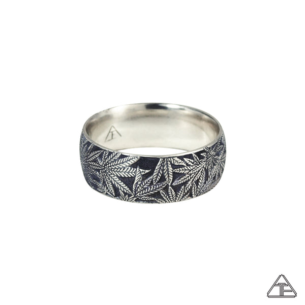 Married to the Game: Canna Class Hand Engraved Band / Ring