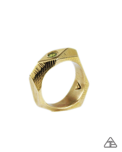 Lattice: Brass Ring Moldavite