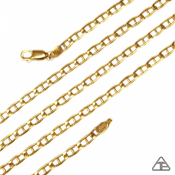 14k Yellow Gold Flat Anchor Chain 3.8mm