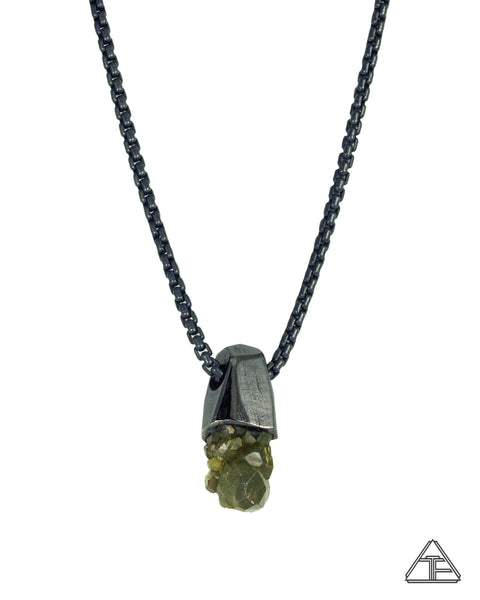 Demantoid Garnet Cluster Stealth Series Crystal Talisman Pendant
