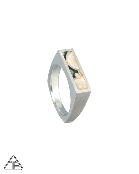 Giotto: Jasper Inlay Signet Ring 6mm