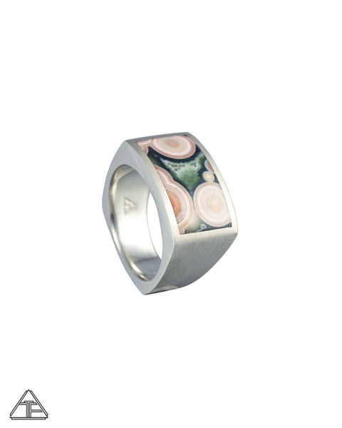 Signet Ring: Ocean Jasper Inlay