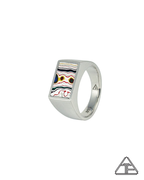 BUDDYLAND® Signet Ring: Fordite Inlay