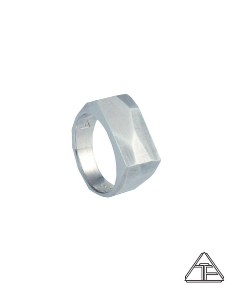 Prism Lattice: Matte Signet Ring