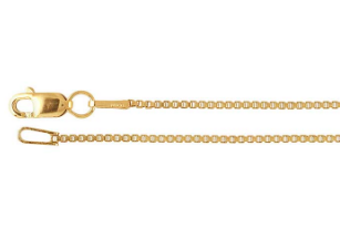 14k Yellow Gold Box Chain 1mm