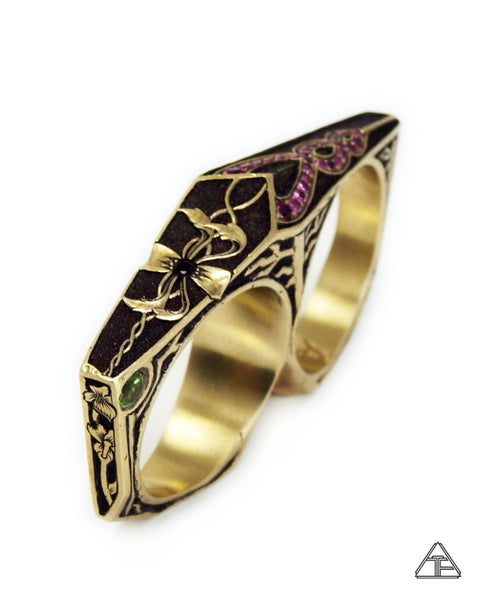 Lattice Double Ring: Lux Edition Collaboration with William Arthur Jewelry