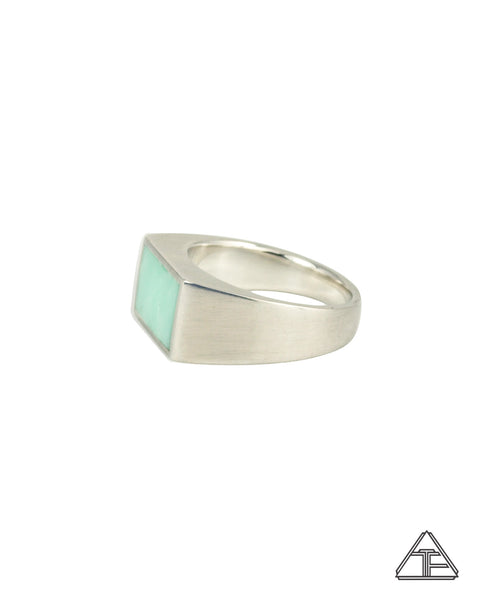 Signet Ring: Inlay Seafoam Opal
