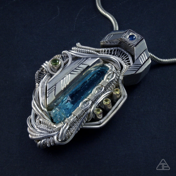 Permafrost: Hybrid Wire Wrapped Pendant