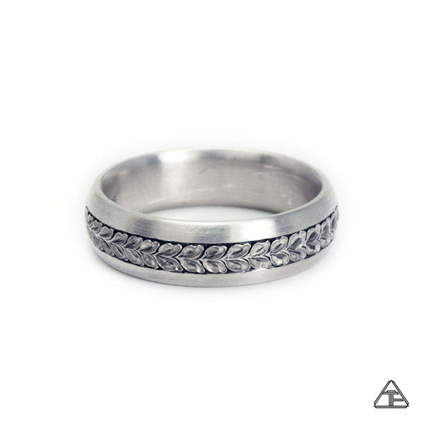 Hawthorne: Hand Engraved Band / Ring Size 9