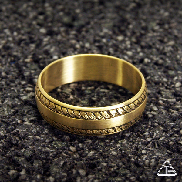 Barnaby: Hand Engraved Band / Ring