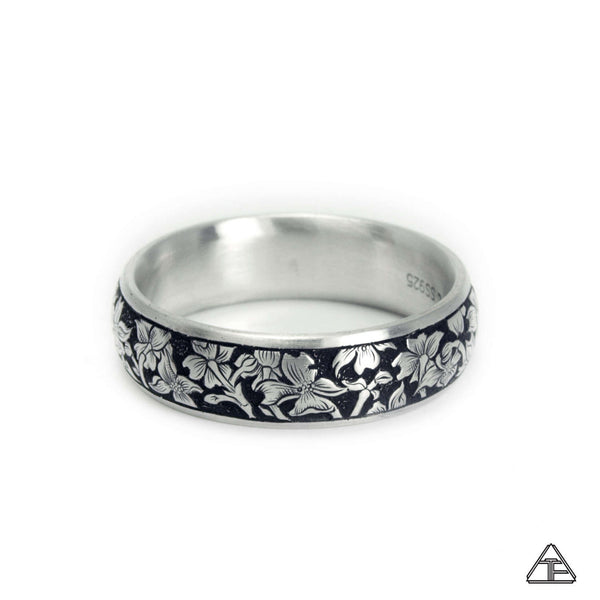 Dogwood: Hand Engraved Band / Ring