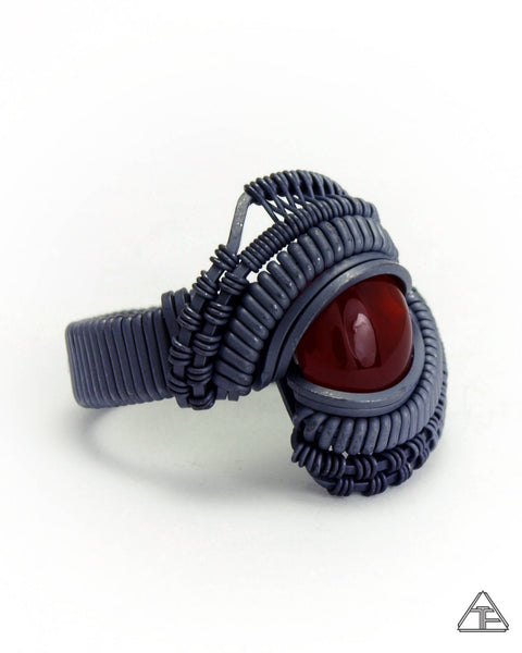 Size 6.5 - Carnelian Stealth Series Wire Wrapped Ring