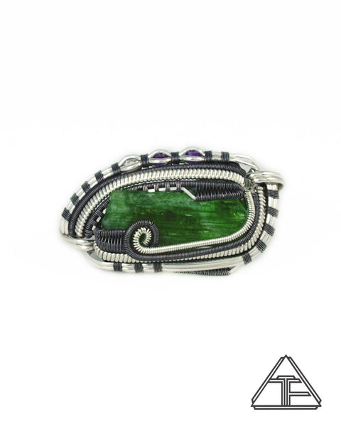 Size 5.5 and 6.5 - Tremolite Sterling Silver and Titanium Wire Wrapped Double Ring