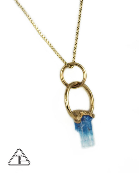 Aquamarine 14K Yellow Gold Crystal Talisman