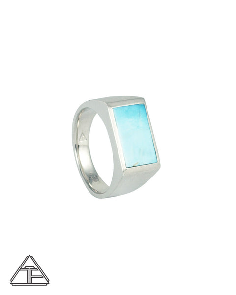 Signet Ring: Inlay Sonoran Rose Turquoises