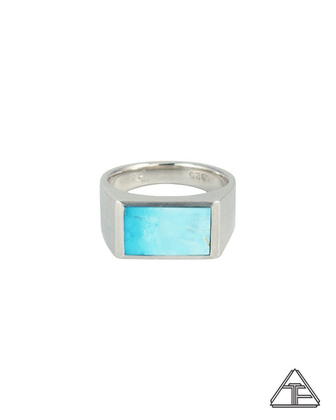 Signet Ring: Inlay Sonoran Rose Turquoise