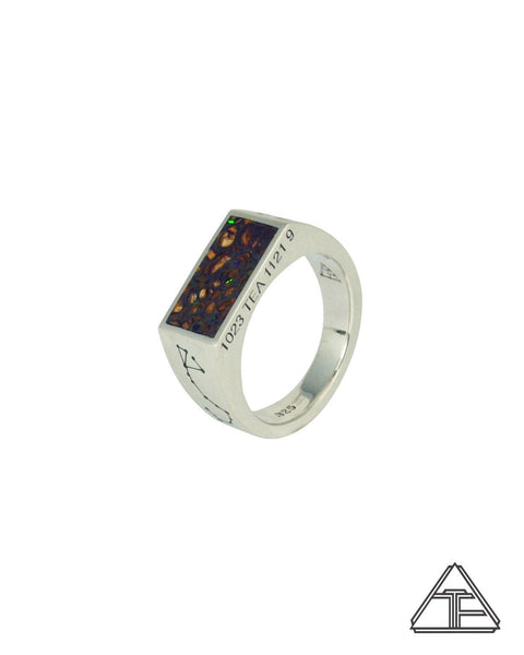 Astrology: Scorpio Inlay Boulder Opal Zodiac Signet Ring