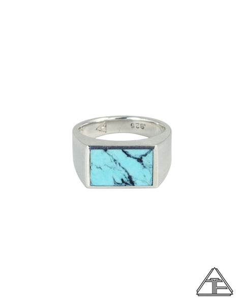 Signet Ring: Inlay Kingman Turquoise
