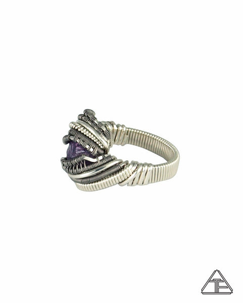 Size 6 - Scapolite Sterling Silver and Titanium Wire Wrapped Ring