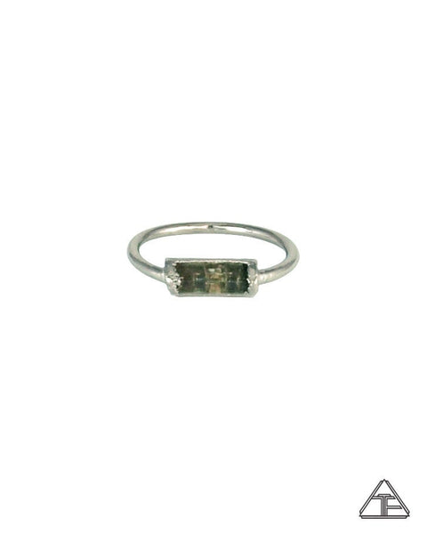 Size 6 - Watermelon Tourmaline Platinum Crystal Talisman Ring
