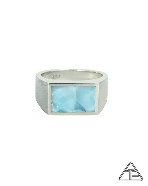 Signet Ring: Larimar Inlay