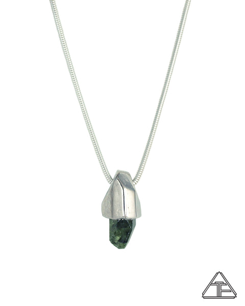 Chrome Diopside Crystal Talisman Pendant
