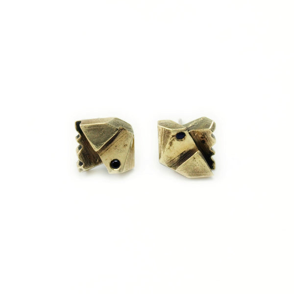 Prism Lattice: Brass Studs Black Spinel