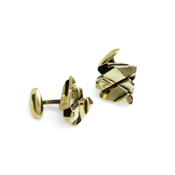 Lustre Lattice: 14K Yellow Gold Cufflinks