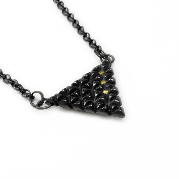Axis Lattice: Stealth Pendant Yellow Diamond x3