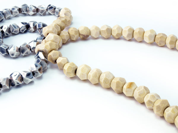Lattice: Sterling Silver Woolly Mammoth Ivory Chain Woolly Mammoth Ivory