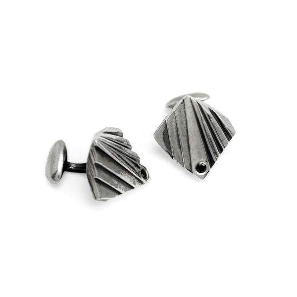 Mohs: Sterling Silver Cufflinks Black Spinel