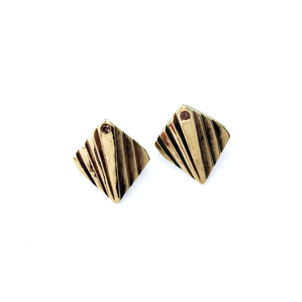 Mohs: Brass Studs Smokey Quartz