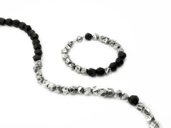 Lattice: Sterling Silver Chain Bracelet Ebony