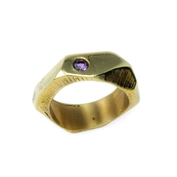 Lattice: Brass Ring Amethyst