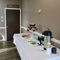 An afternoon meeting isn't complete without cupcakes and coffee to keep your staff alert and inspired.
