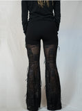 Black Metallic Dangle Pants