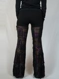 Black and Fuchsia Dangle Pants