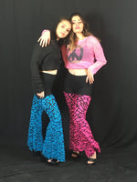 Blue Turquoise Puzzle Shimmer Pants