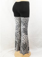 Black and White Peacock Sparkle Pants
