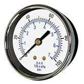 PIC - Model 102D - Dry Utility Gauge, Center Back Mount
